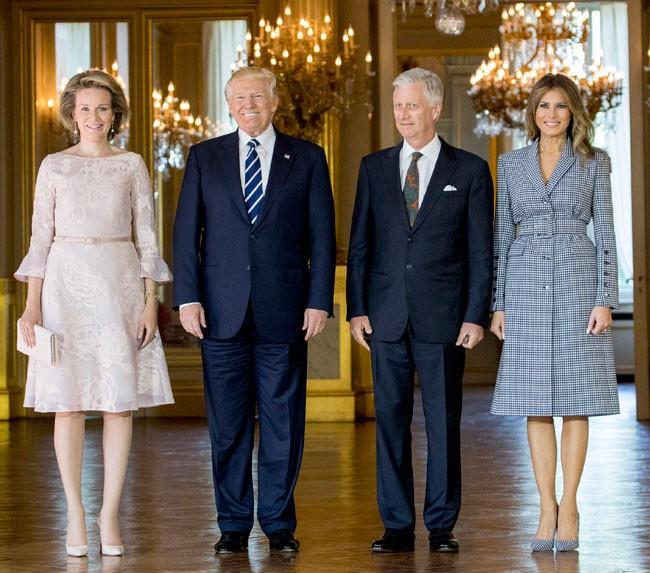 Reyes de Belgica y matrimonio Trump