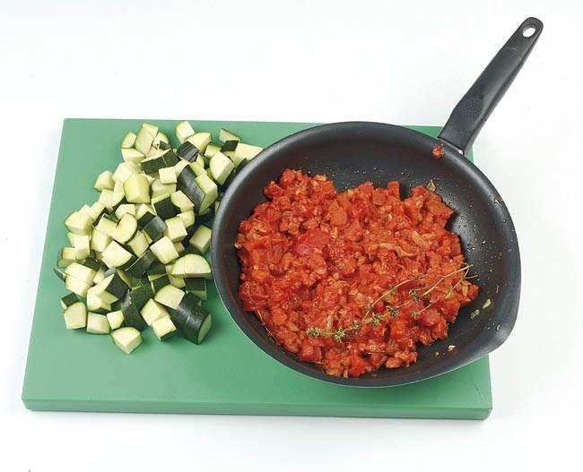 Gratinado de calabacín y tomateGratinado de calabacín y tomate