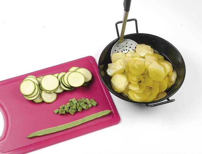 Tortilla vegetal con jamón
