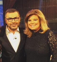 Terelu junto a su madre, María Teresa Campos, y el presentador Jorge Javier Vázquez