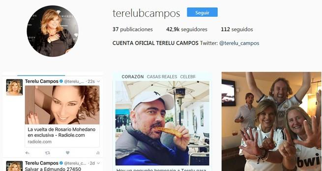 La cuenta oficial de Terelu, donde los fans de la malagueña pueden seguir sus looks y fotos personales
