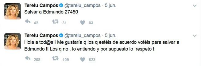 Campaña en Twitter de Terelu para salvar a Edmundo 'Bigote' Arrocet