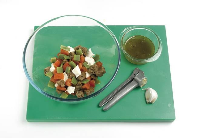 Ensalada de judías verdes y mozzarella