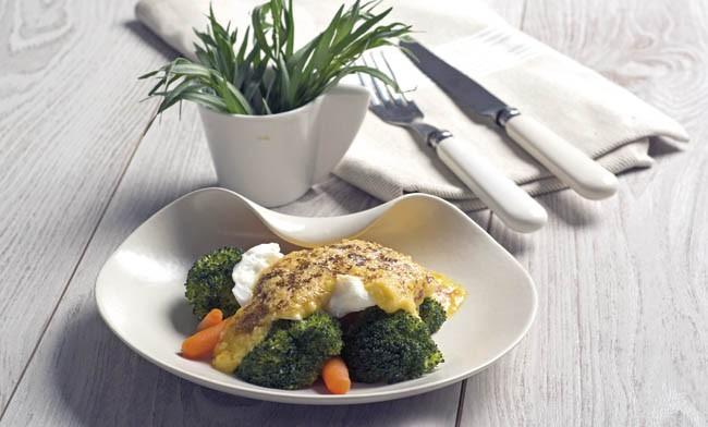 Huevos escalfados con verdurasHuevos escalfados con verduras