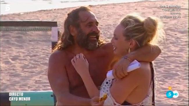 Juan Miguel y su hija Rocío, fruto de su relación con Karina.