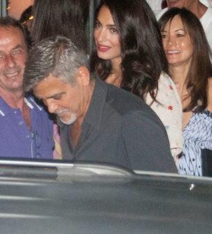 George Clooney y Amal, de cena en Italia sin sus hijos