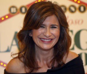 La peridista Gema López durante un acto en el bingo Las Vegas de Madrid. 14/12/2016