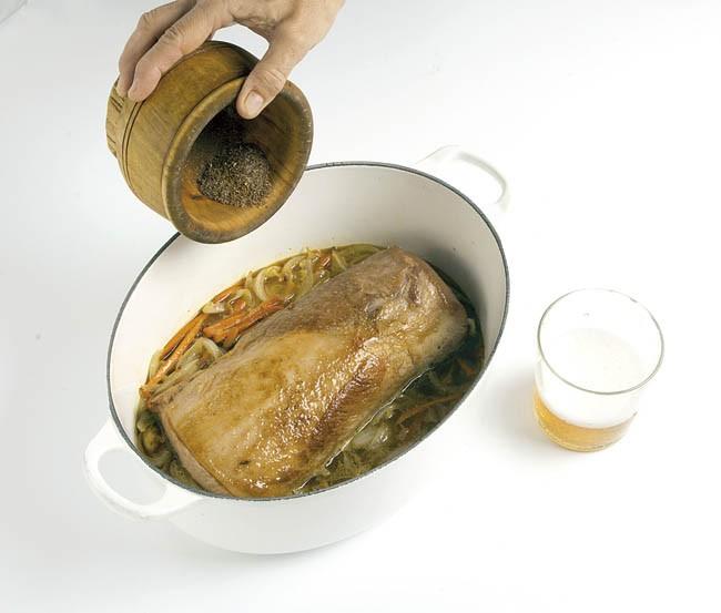 Lomo a la cerveza