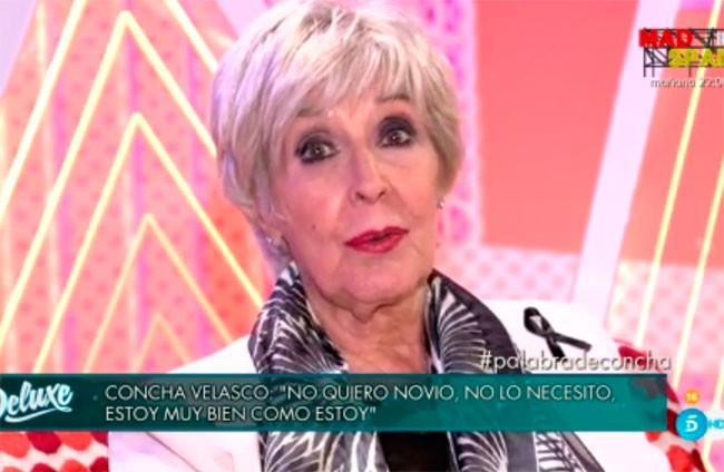 Concha Velasco: «Solo le pido a Dios cuatro añitos más, morirse a los 82 no está nada mal»