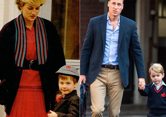 El príncipe Guillermo y su hijo George: así fue su primer día de colegio