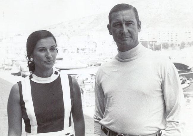 Carmen Franco y Cristóbal Martínez-Bordiú, en 1968.