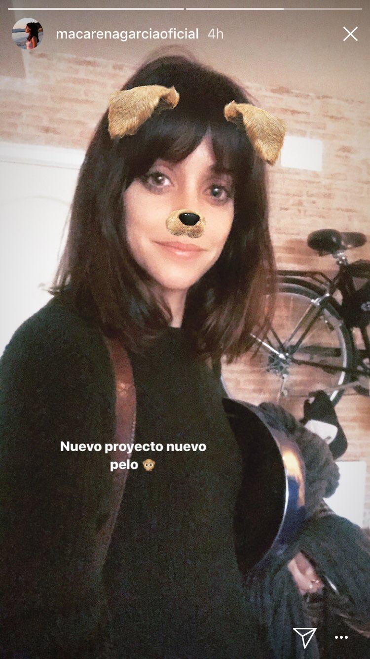 Macarena Garca ensea cual ser el corte de pelo de moda de este ao
