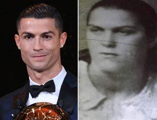 El increíble parecido de Cristiano Ronaldo con su abuela materna