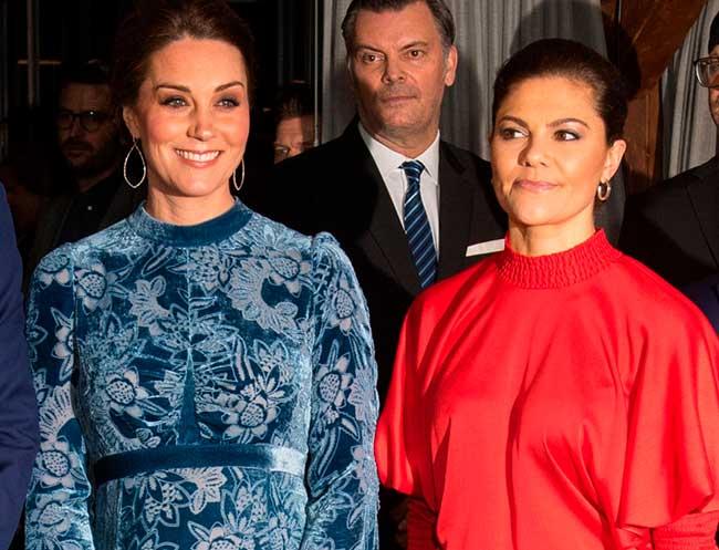 Kate Middleton y Victoria de Suecia