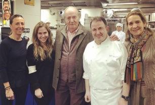El menú de 260 euros del Rey Juan Carlos y la Infanta Elena en el restaurante de Martín Berasategui