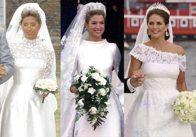 meghan markle: los diseñadores de los vestidos de novia reales