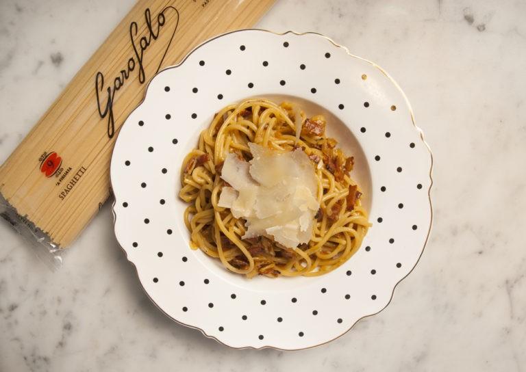 Receta Pasta Spaghetti GAROFALO a la carbonara