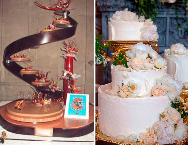 las-dos-tartas-de-las-bodas-reales