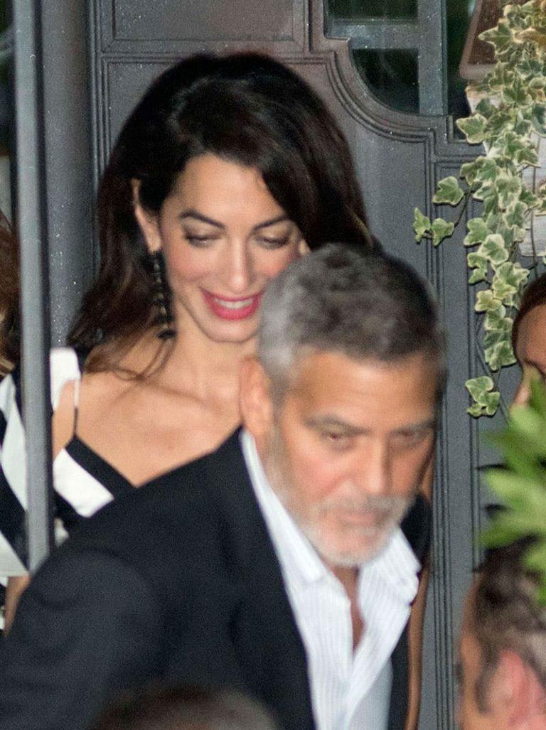 George y Amal Clooney, romántica cena en el lago Como