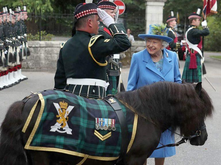 Isabel II, nuevo cara a cara con su gran 'enemigo', el pony Cruachan IV
