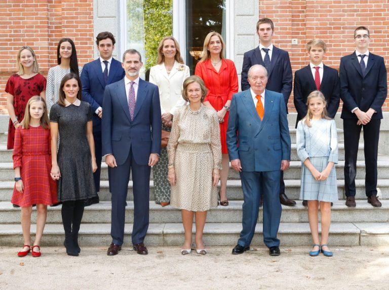 Doña Sofía une a todos sus hijos y nietos el día de su cumpleaños