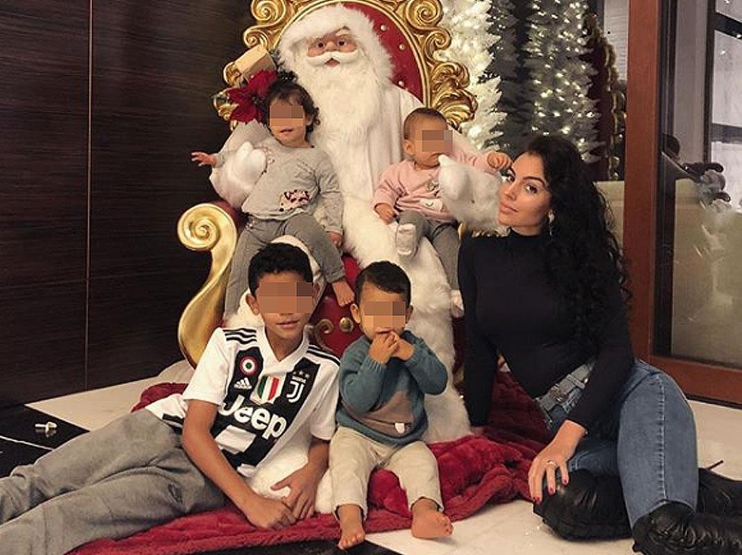 La cena de Navidad para tres de Cristiano Ronaldo y Georgina