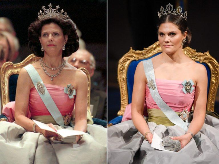 Victoria de Suecia lleva un antiguo vestido de su madre para los Nobel
