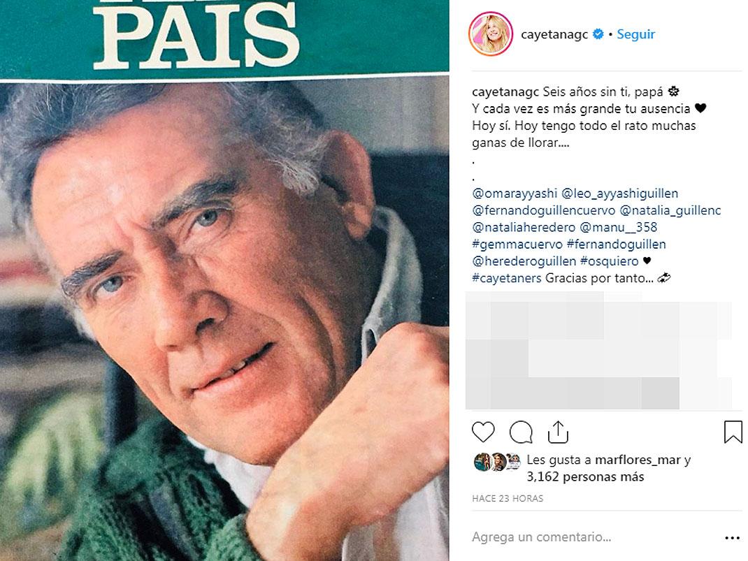 Cayetana Guillén Cuervo El Triste Mensaje Que Dedica A Su Padre