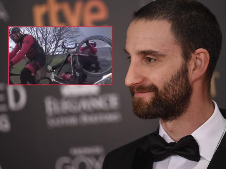 Dani Rovira, atropellado por un coche: el brutal vídeo del accidente mientras circulaba en bicicleta
