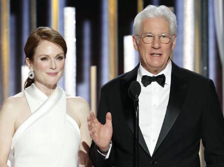 El bonito gesto de Richard Gere a su mujer, Alejandra Gere, en plena gala de los Globo de Oro