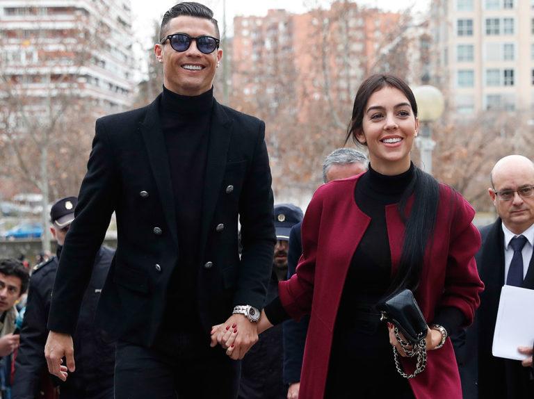 Georgina Rodríguez se convierte en el apoyo sorpresa de Cristiano Ronaldo en el día de su juicio
