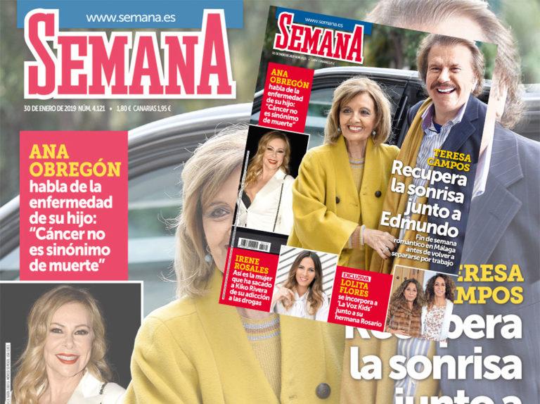 En SEMANA, Teresa Campos recupera la sonrisa junto a Edmundo