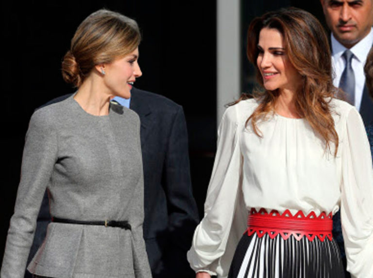 El gesto de Rania de Jordania que echamos en falta en la reina Letizia
