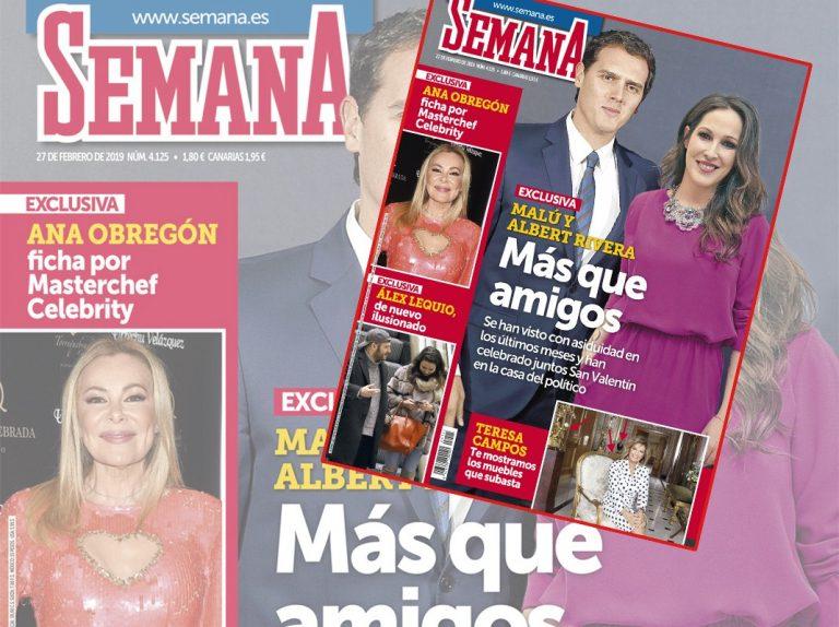 En SEMANA, Albert Rivera y Malú, más que amigos