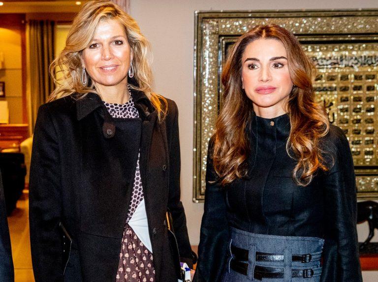 Máxima y Rania, cara a cara: misma edad, diferente expresión…