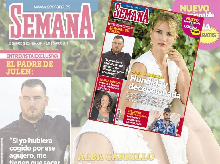 En SEMANA, Alba Carrillo, hundida y decepcionada