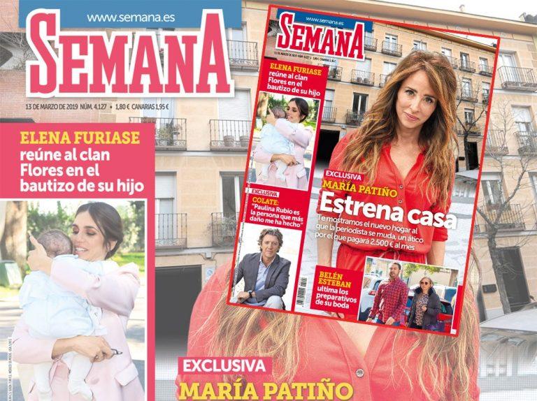 En SEMANA, María Patiño estrena nueva casa por 2.500 euros al mes