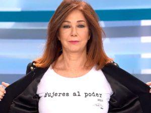 La camiseta reivindicativa de Ana Rosa Quintana por el Día de la Mujer
