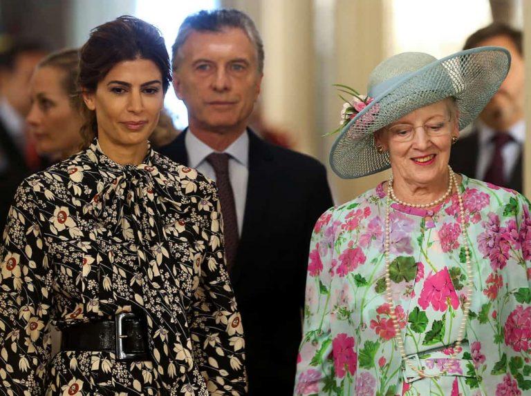 Juliana Awada recibe a la reina Margarita mientras se prepara para Letizia