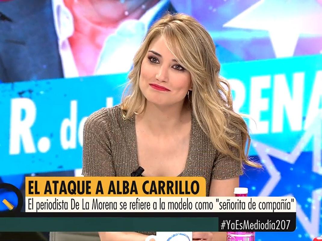 "Alba Carrillo Altura alba carrillo: ""me sentiría dolida si mi padre fuera como de"