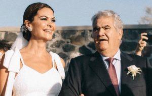 María José Suárez, desolada tras la muerte de su padre