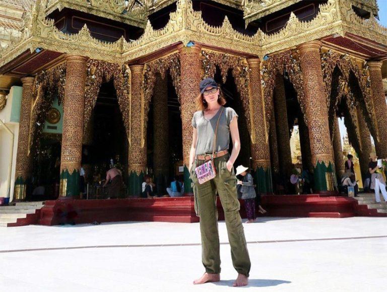 Nieves Álvarez disfruta de la Semana Santa en Birmania