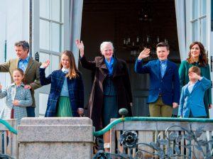 Margarita de Dinamarca cumple 79 años y sus nietos le roban los flashes