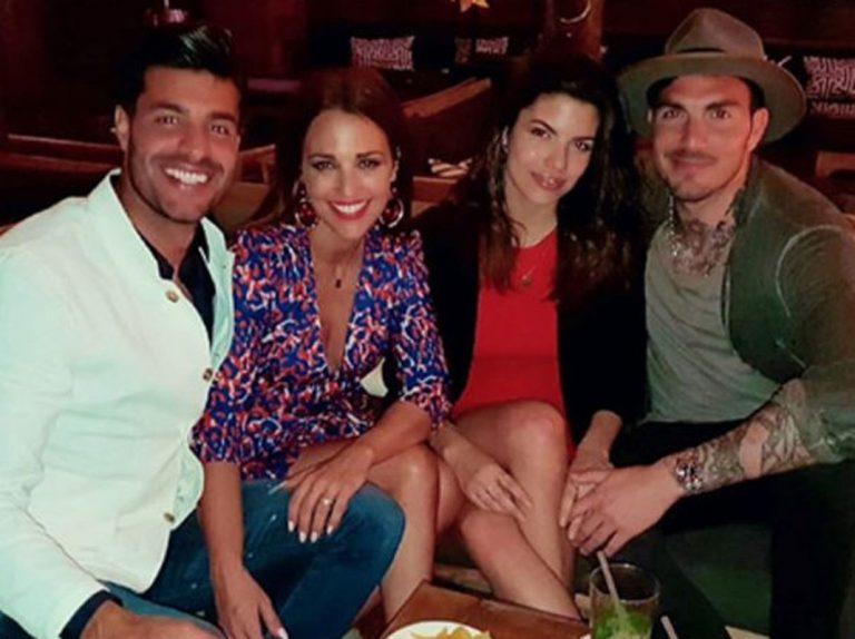 Paula Echevarría de cena con los amigos de Miguel Torres en Marbella