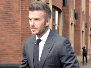 David Beckham se queda sin carné de conducir por una falta al volante