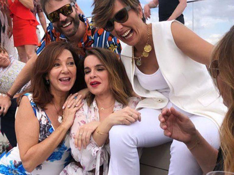 El desmadre de Ana Rosa Quintana, Sonsoles Ónega y otras estrellas de Telecinco de fiesta