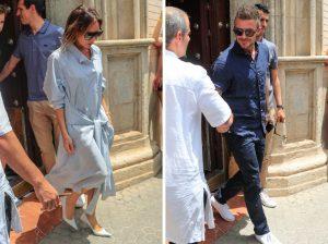 Los Beckham abandonan Sevilla tras asistir a la boda de Pilar Rubio y Sergio Ramos