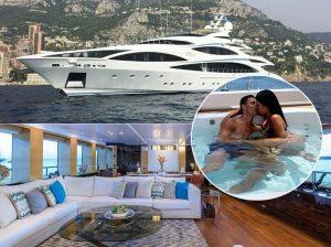 Entramos en el lujoso yate de Cristiano Ronaldo y Georgina Rodríguez a 28.000 euros diarios