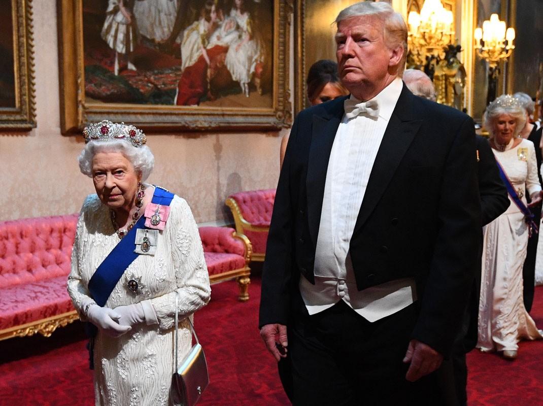 Donald Trump e Isabel II