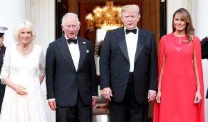 Melania Trump, gran protagonista en la cena con Camila y Carlos de Inglaterra